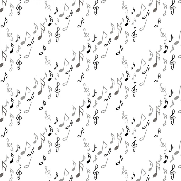 Opus White Musical Notes