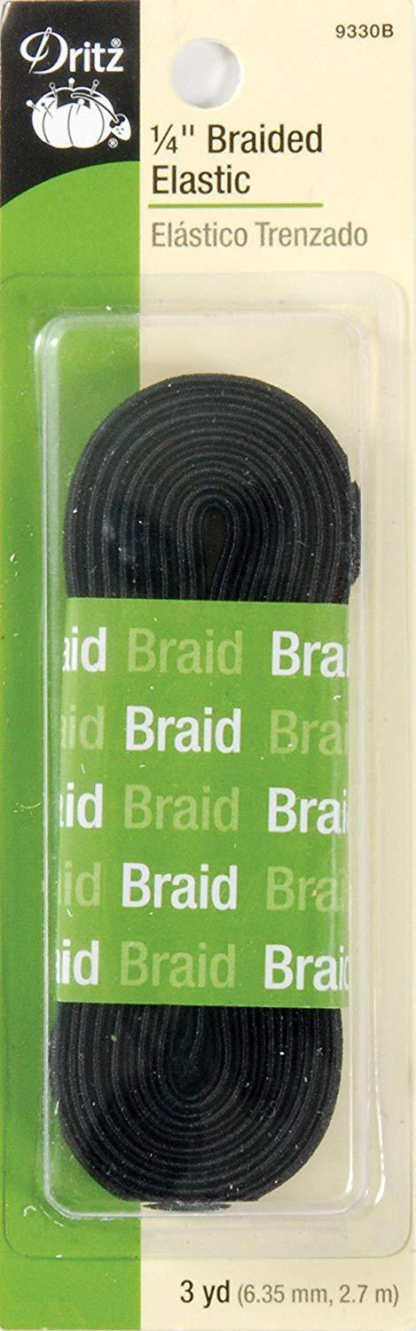 "1/4"" Braided Elastic 3 yds"