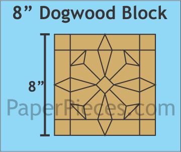 "8"" Dogwood Block Bulk Pack"