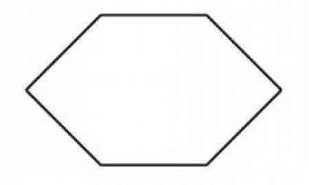 "1"" Elongated Hexagon 100 pc"
