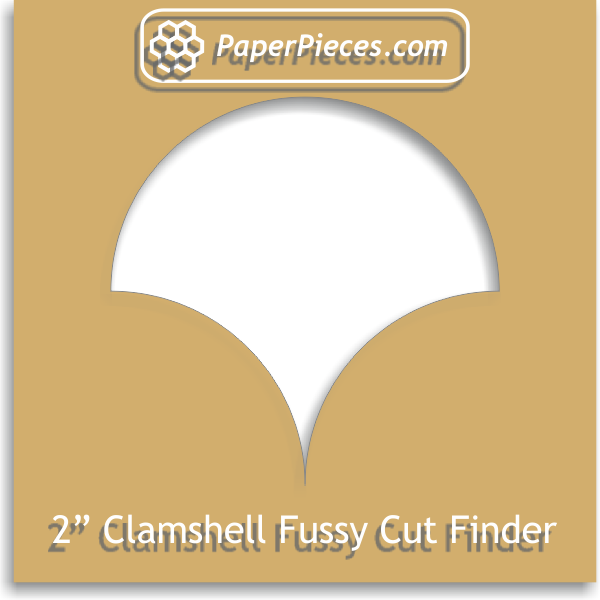 "2"" Clamshell Fussy Cut Finder"