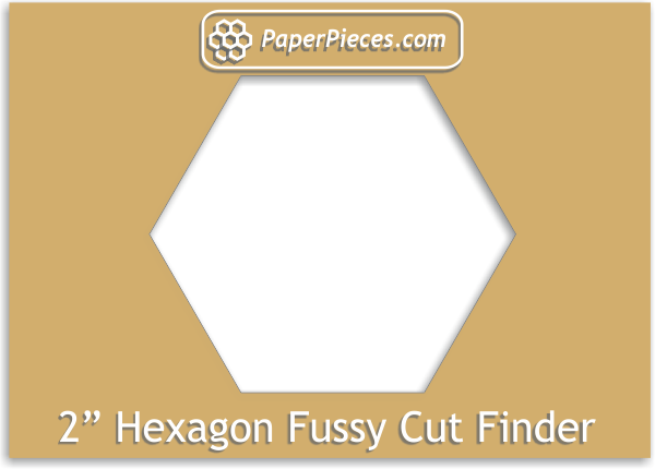"2"" Hexagon Fussy Cut Finder"