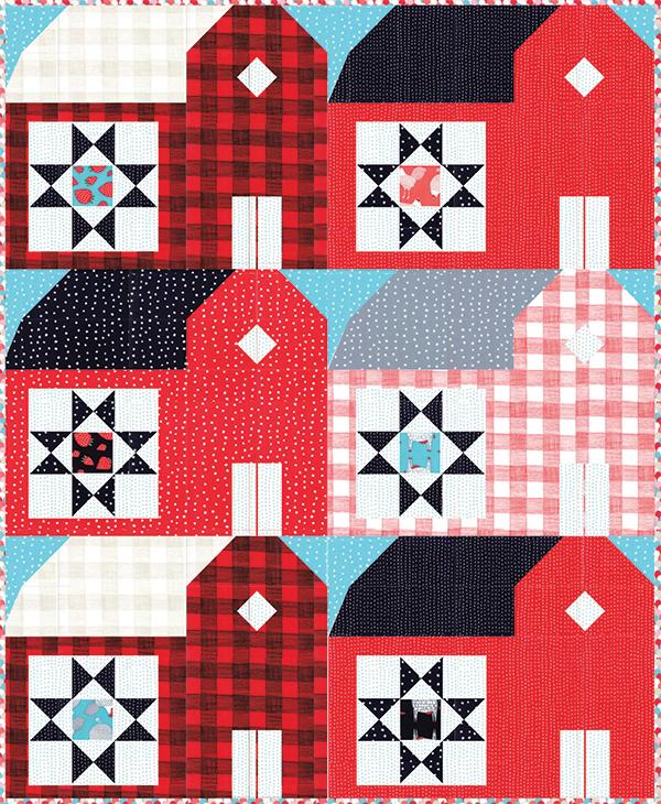 Farm Fresh Red Barns Quilt Pattern