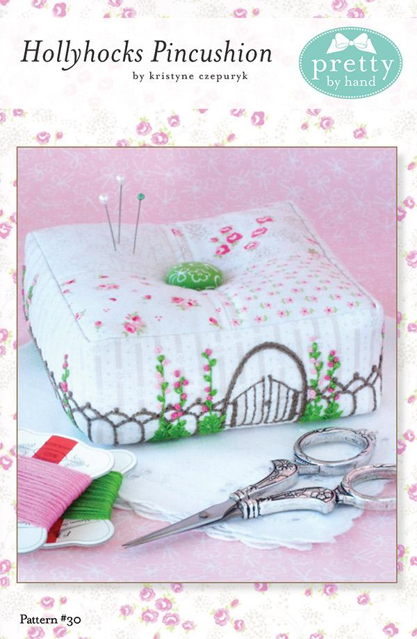 Hollyhocks Pincushion Pattern