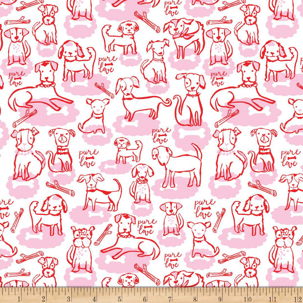 Woof & Wags Bone Clouds Pink