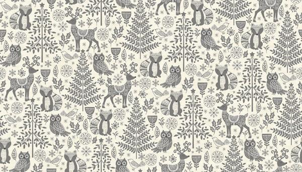 Scandi Forest Animals Grey