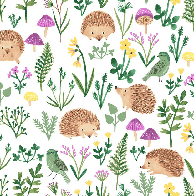 Woodland Wander Hedgehogs and Greenery White