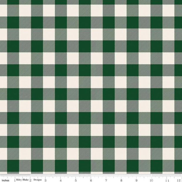 Flannel Christmas Traditions Plaid Green