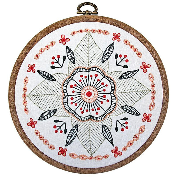 Floral Mandala Embroidery Kit