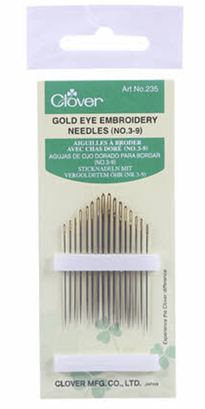 Gold Eye Embroidery Needle 3-9