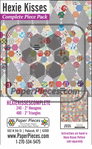 Hexie Kisses Complete Piece Pack by Jen Kingwell
