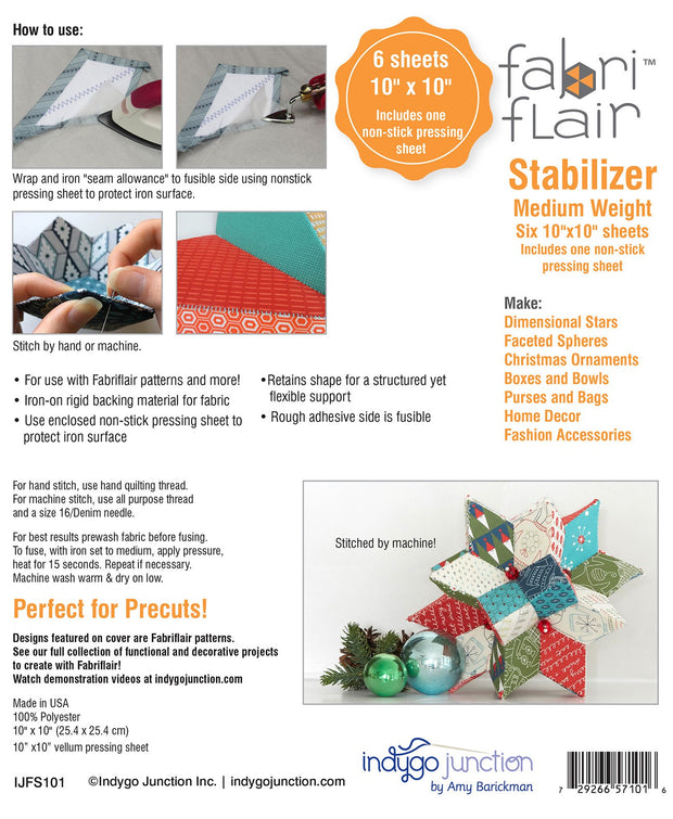 "Fabriflair Medium Weight 10"" Square Pack"