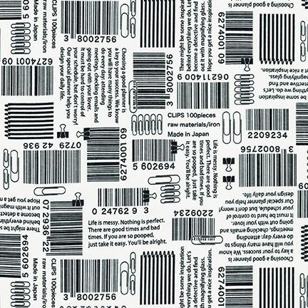In the Press White Barcodes and Paper Clips