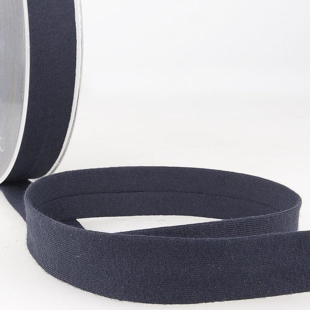 "Jersey Bias Tape 3/4"" Navy"