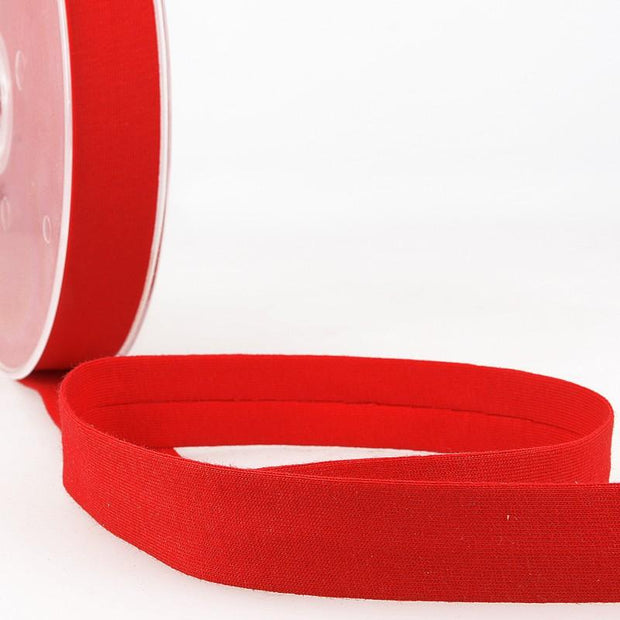 "Jersey Bias Tape 3/4"" Red"