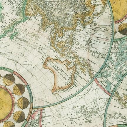 Library of Rarities Antique World Map