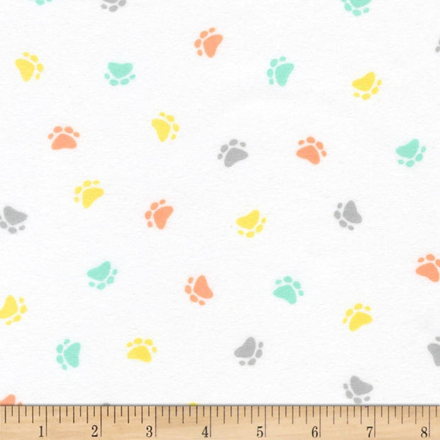 Little Savannah Flannel Pastel Paw Prints