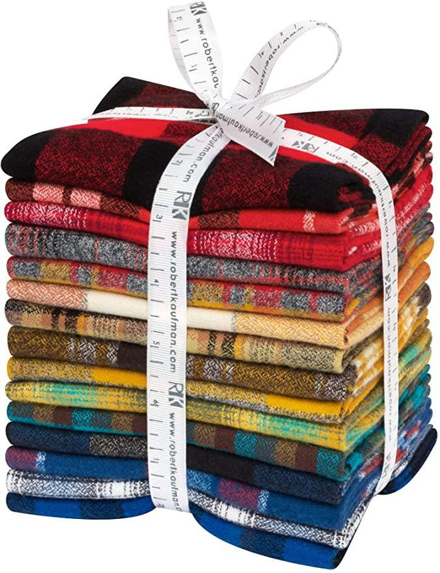 Mammoth Flannel Fat Quarter Bundle Rainbow Colorstory