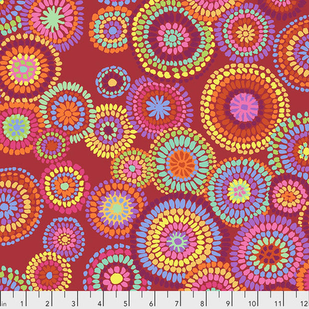 Mosaic Circles Red for Kaffe Fassett Collective