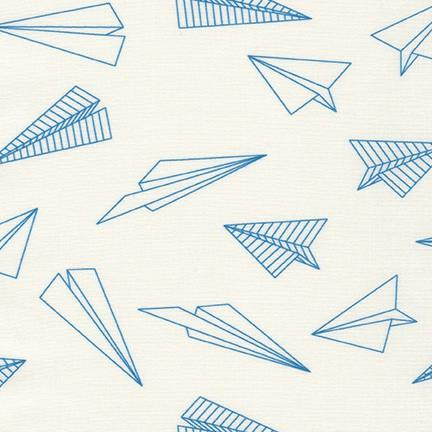 On the Lighter Side Blue Paper Airplane on White