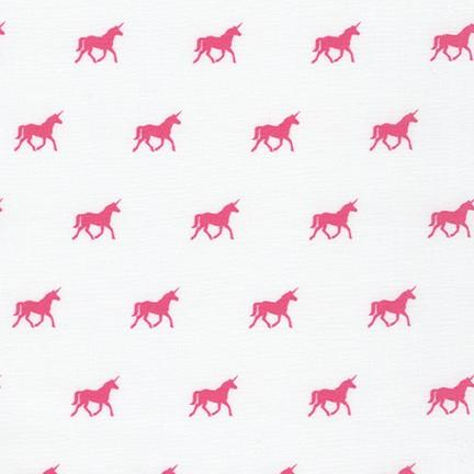 On the Lighter Side Pink Unicorn on White