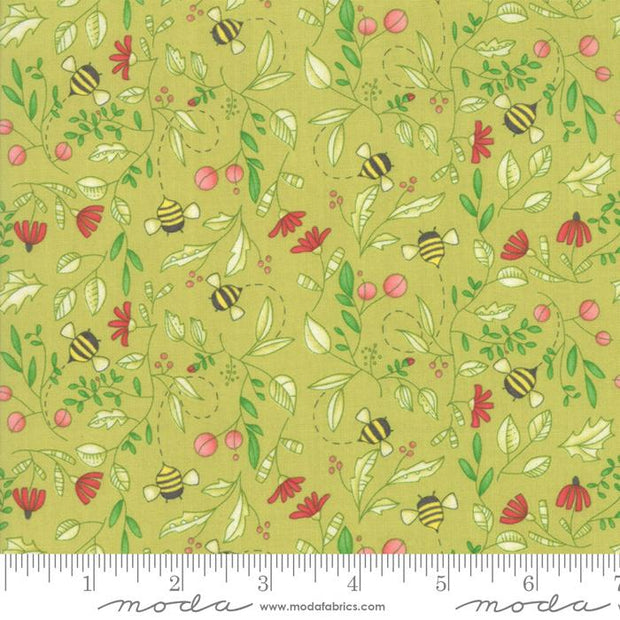 Painted Meadow Sprig Simple Drawings Light Green
