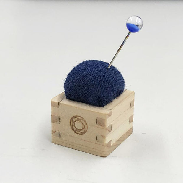 Pin Cushion of Mini Masu Blue