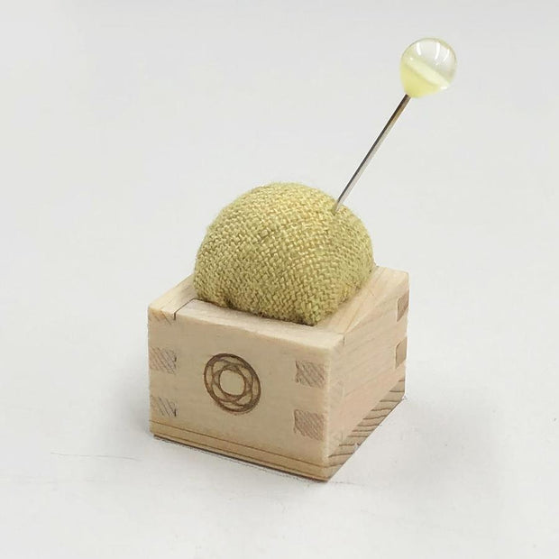 Pin Cushion of Mini Masu Yellow