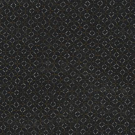 Sevenberry: Nara Homespun Black Tiles