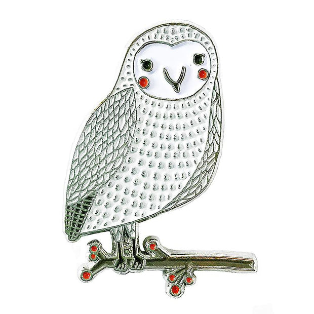 Snow Owl Enamel Pin