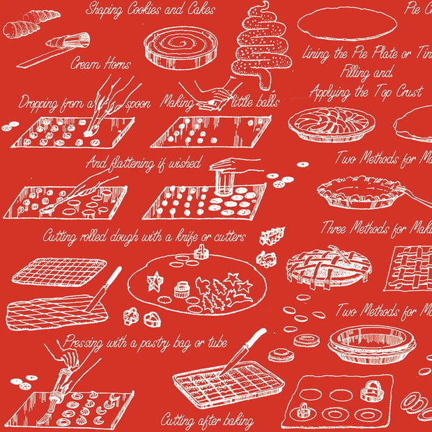Snow Sweet Vintage Cookbooks Red