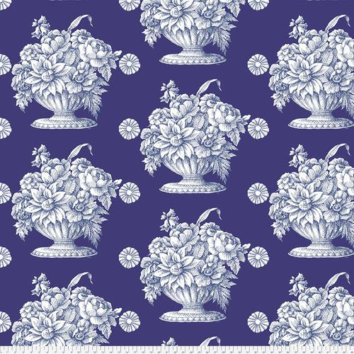 Stone Flower Sateen Royal Backing Fabric