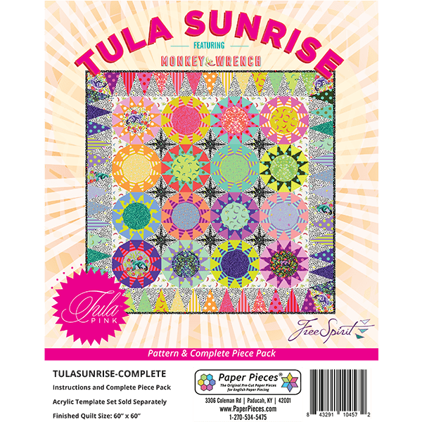 Sunrise Quilt By Tula Pink Complete Piece Pack and Pattern
