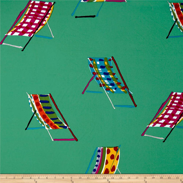 Sunshine Isle Teal Beach Chairs Heavy Oxford Canvas