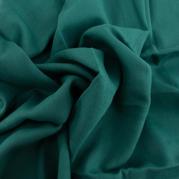 Teal Solid Double Gauze