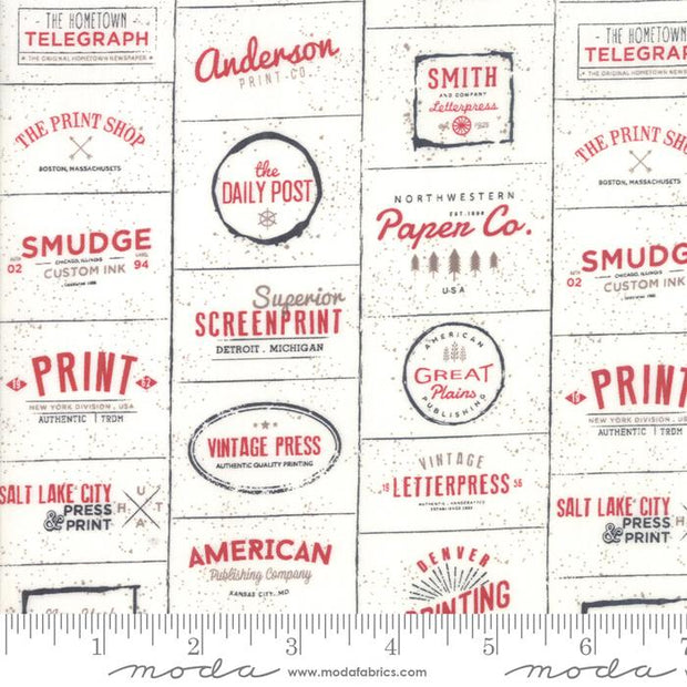 The Print Shop Cream Red Logos Natural