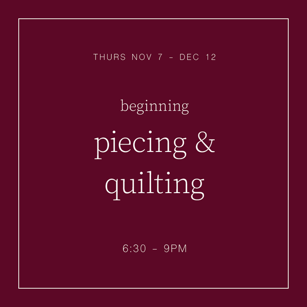 Thursday, November 7th - 6:30 pm