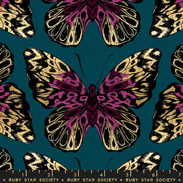 Tiger Fly Canvas Queen Metallic Teal