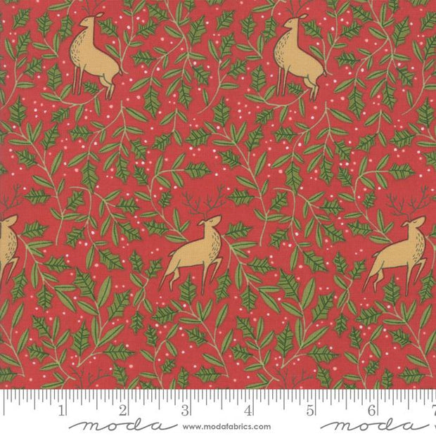 To Be Jolly Berry Holly Deer Red