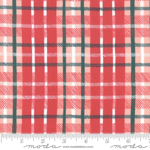 To Be Jolly Berry Plaid Red