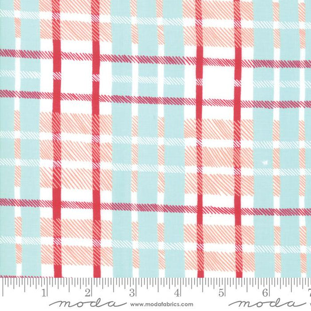 To Be Jolly Frosty Berry Plaid Aqua