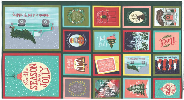 To Be Jolly Jolly Greetings Multi Panel