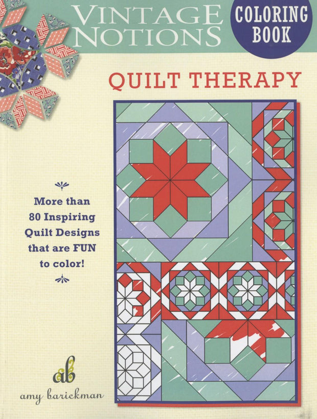 Vintage Notions Coloring Quilt Therapy