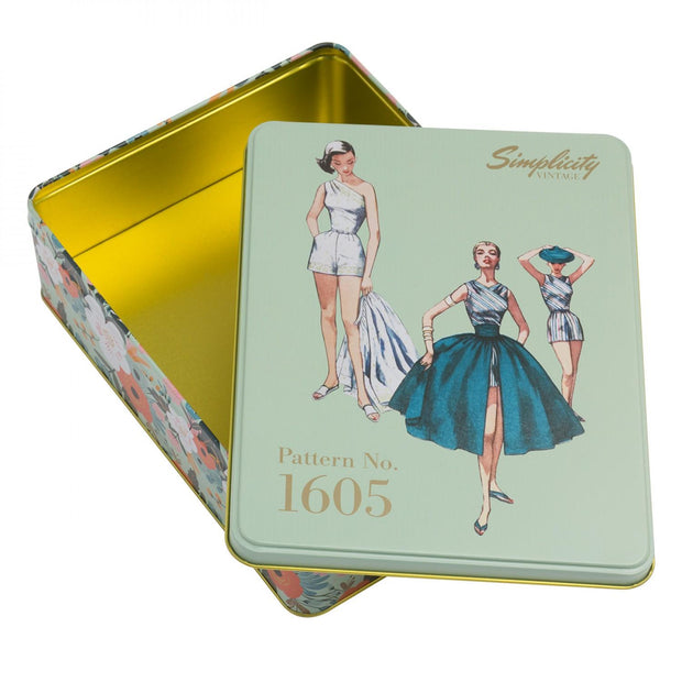Vintage Pattern No. 1605 Tin