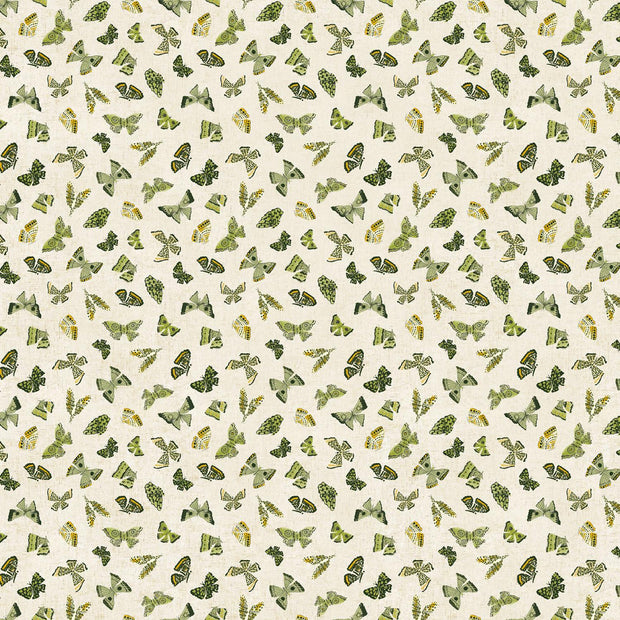 Wildflower Linen Butterflies Green