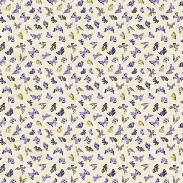Wildflower Linen Butterflies Purple