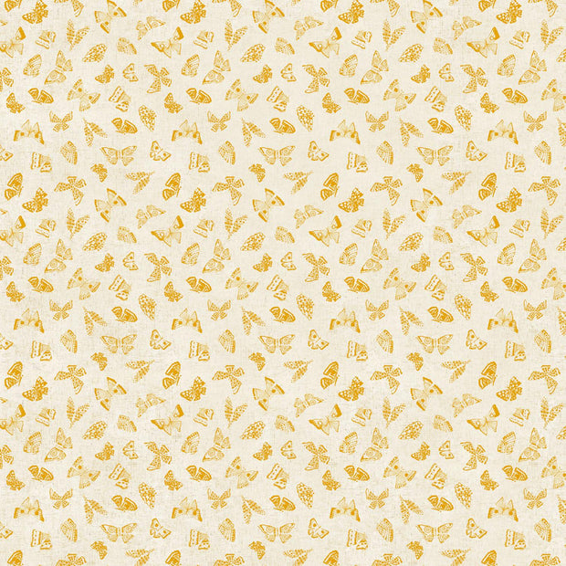 Wildflower Linen Butterflies Yellow