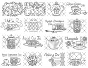 Aunt Martha's Embroidery Patterns Tea Time