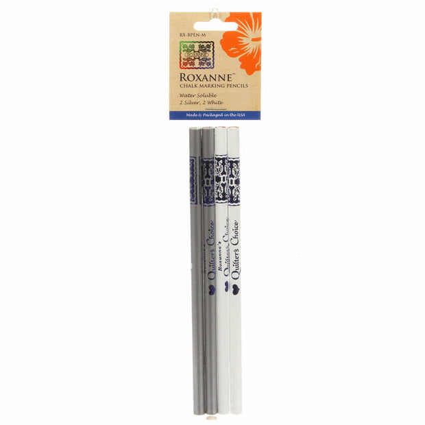 Chalk Pencils Silver & White