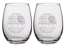 Load image into Gallery viewer, Star Wars Stemless Wine Glasses - Death Star